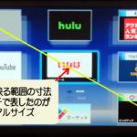 テレビのV型に関する説明